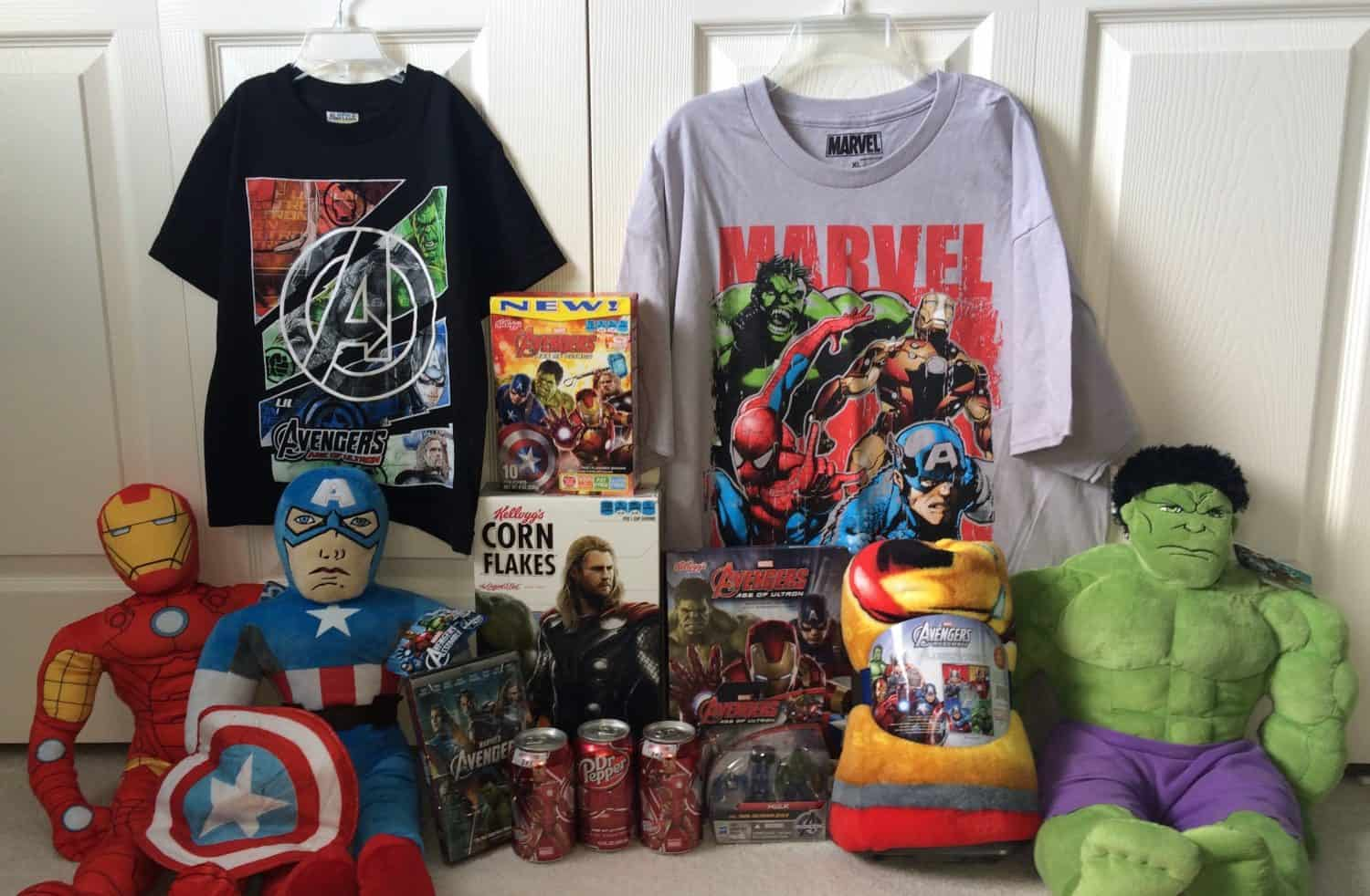 Popular Contents of Avengers Box from Meijer