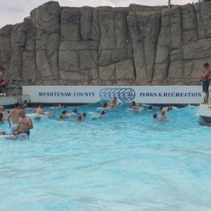 Autism Swim Day at Rolling Hills Water Park - Wave Pool