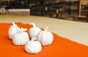 Clay Pumpkin Making