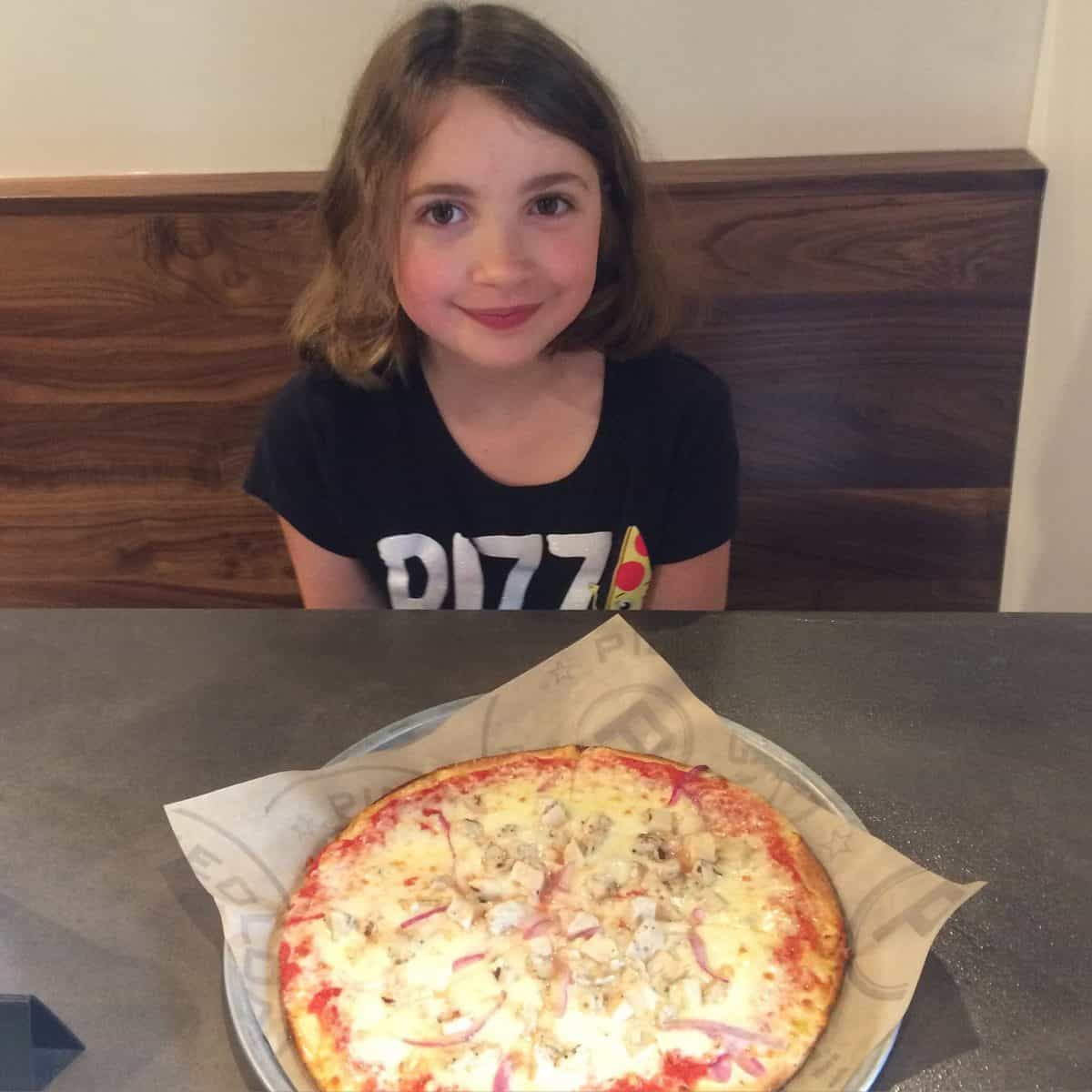Pieology Pizza - My daughter's pizza