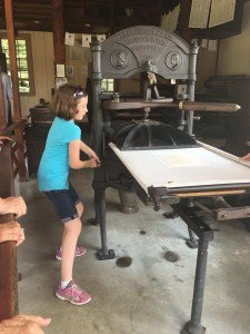 Greenfield Village Print Shop Apprentice