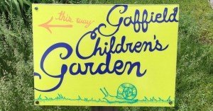 Matthaei Botanical Garden - Children's Garden - Sign