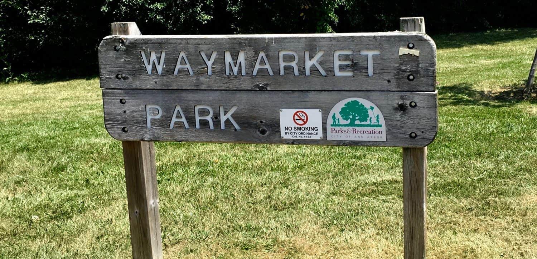 Waymarket Park - Park Sign