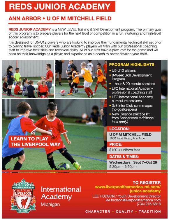 Liverpool FC International Academy Michigan - Reds Junior Academy
