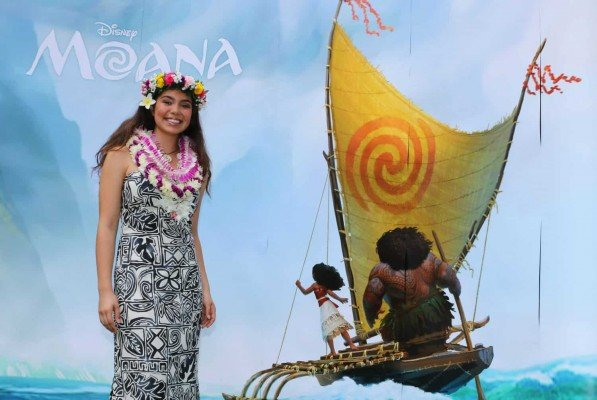 Auli'i Cravalho plays Moana in the movie