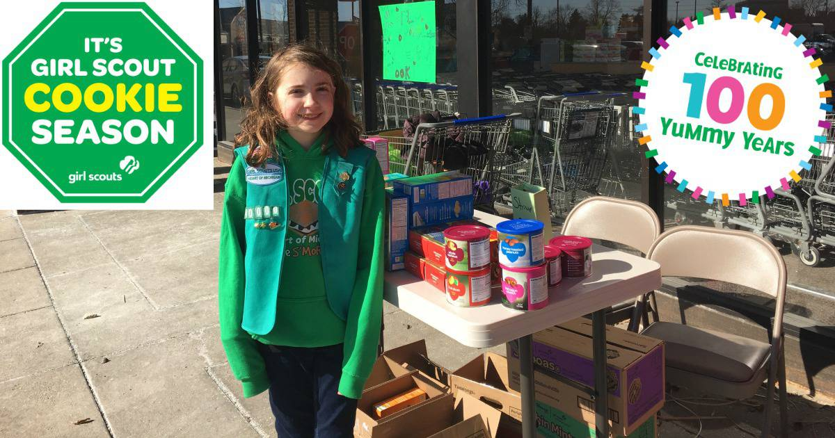 Ann Arbor Girl Scout Cookie Booths