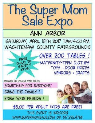 Ann Arbor Super Mom Sale - Informational Flyer