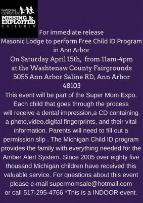 Ann Arbor Super Mom Sale - ID Kits