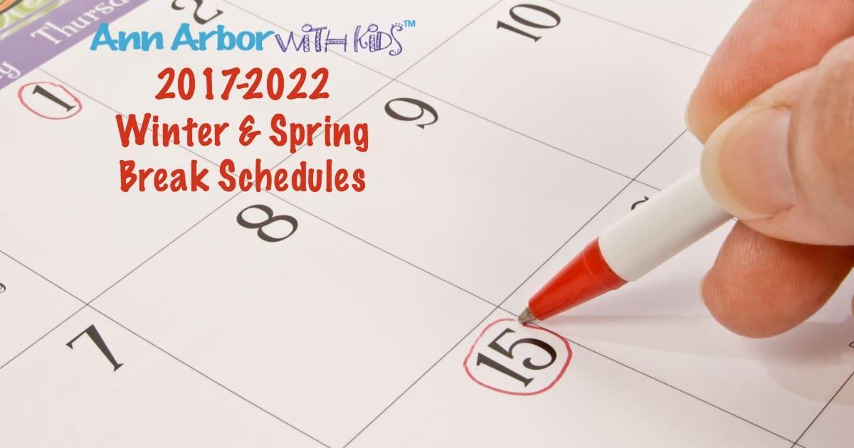 Winter & Spring Break Schedules