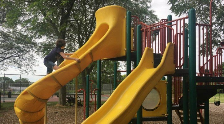Buhr Park Playground - Up the Slide