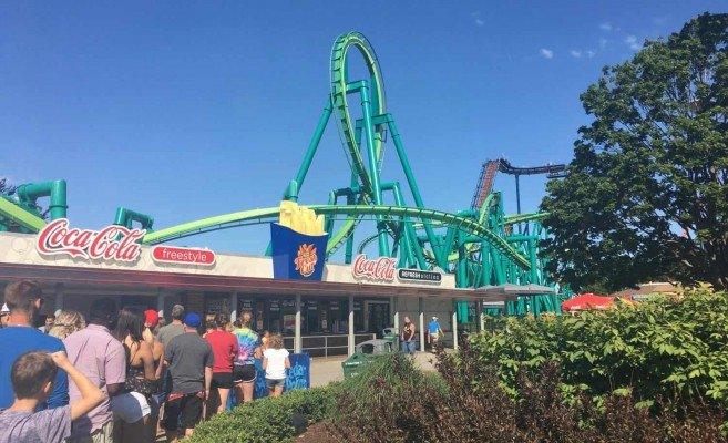 Cedar Point - Wednesday Activity Review - Waiting for Opening on the Midway