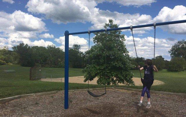 Leslie Park Playground Profile - Close to Baseball Diamond