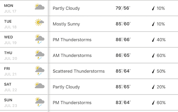 Ann Arbor Art Fair Week Weather