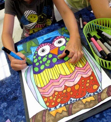 Young Rembrandts Power of Drawing - Owl - Ann Arbor Summer Camp
