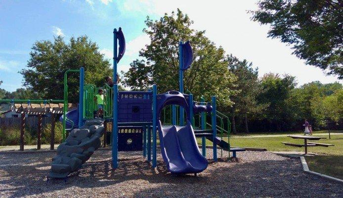 Arbor Oaks Playground Profile - Pirate Ship Structure