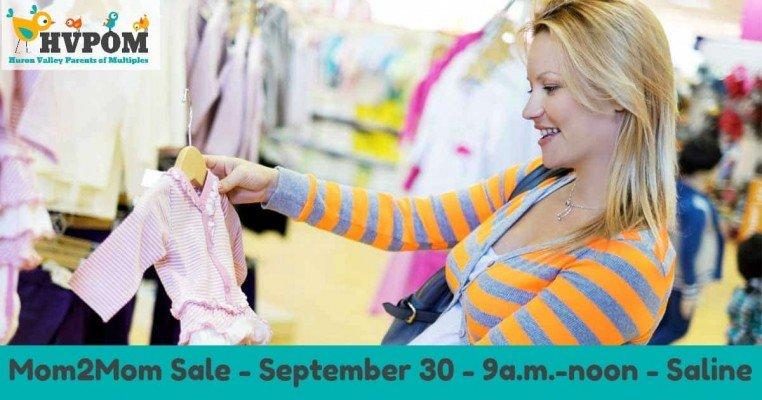 HVPOM Mom2Mom Sale - September 30, 2017 - 9a-noon - Woodland Meadows Elementary, Saline
