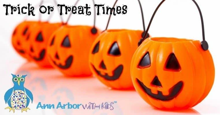 Ann Arbor Trick or Treat Times