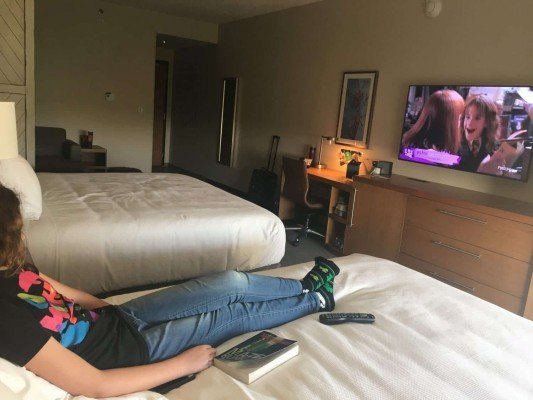 Staycation - Hyatt Place Ann Arbor - Watching Harry Potter