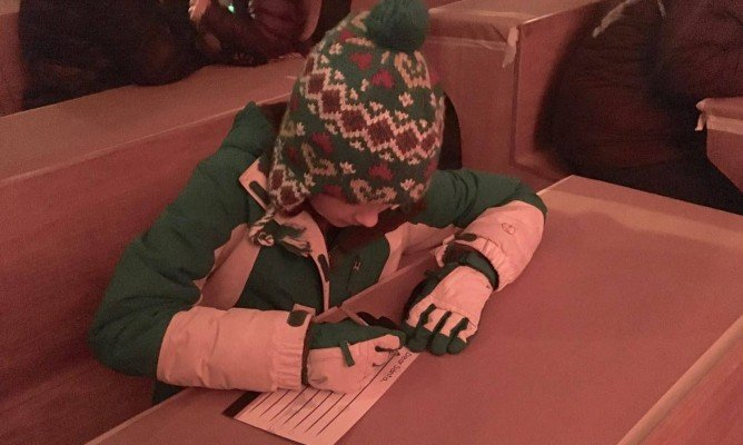 Greenfield Village Holiday Nights - Writing Letter to Santa