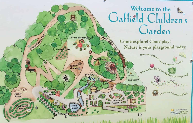 Matthai Botanical Gardens Gaffield Children Map Ann Arbor With Kids