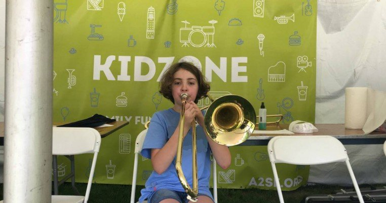 Top of the Park Kids Guide - A2SO Instrument Petting Zoo KidZone Tent